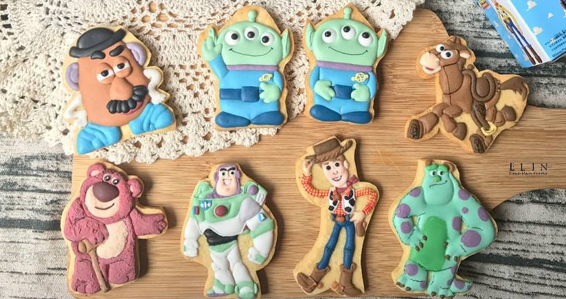 糖霜餅乾-玩具總動員 Toy Story Birthday Party Sugar Cookies Woody
