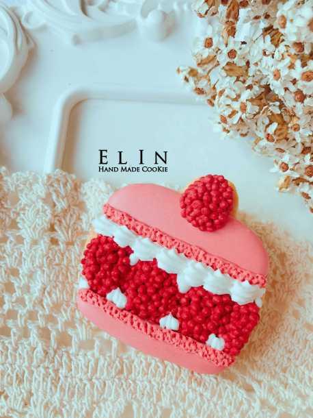 蔓越莓 馬卡龍 糖霜 杯子 蛋糕
