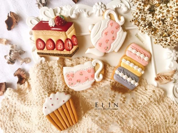 下午茶 甜點 杯子蛋糕 餅乾 糖霜