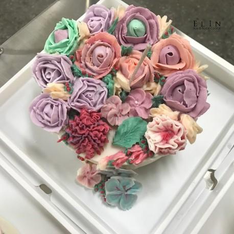 大豆蠟燭擠花 學校蛋糕裝飾 擠花課程 師生研習 北斗家商 餐飲技術科