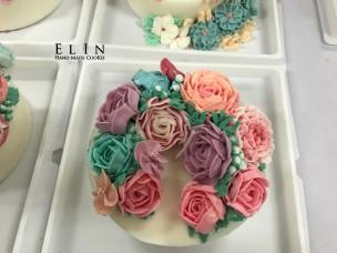 大豆蠟燭蛋糕教學 學校蛋糕裝飾 擠花課程 師生研習 北斗家商 餐飲技術科