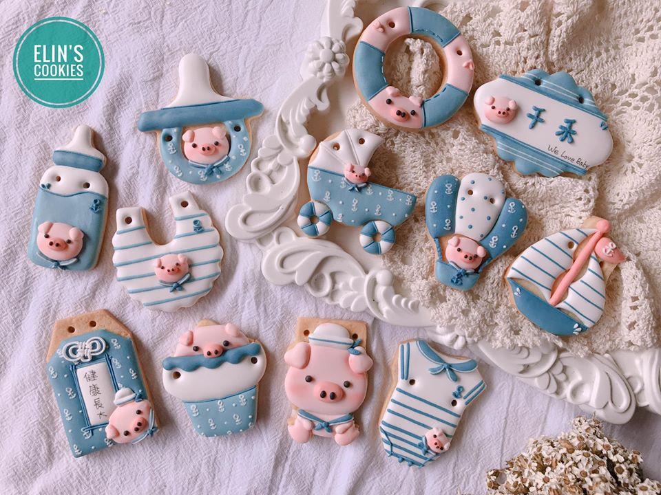 豬年寶寶糖霜收涎餅乾