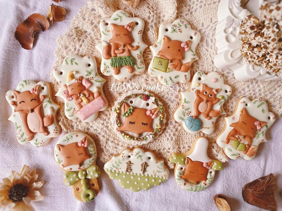 父愛-手繪客製化狐狸糖霜餅乾