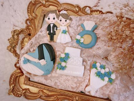 客製化婚禮糖霜餅乾婚紗進場禮物